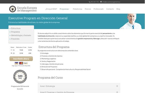 Nuevo proyecto: Escuela Europea de Management