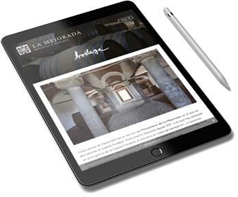 Diseño web en un ipad