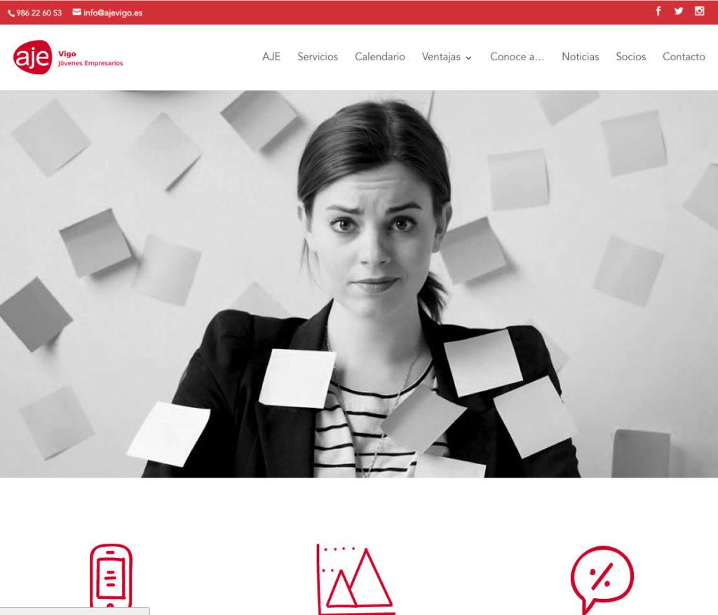 Diseño y desarrollo de la web de AJE Vigo